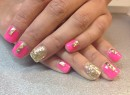 Pritty in Pink and Stud Nails
